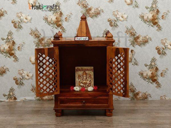 Temple Wooden Jalli Solid Wood Sheesham By Khaticraft
