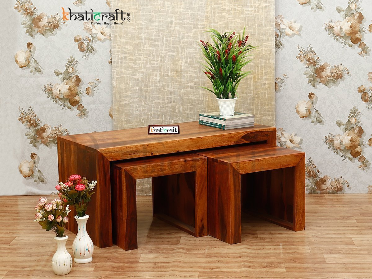 Coffee Table with 2 stools from khaticraft