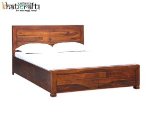 Buy Online Ghani Solid Wood Sheesham Bed by khaticraft